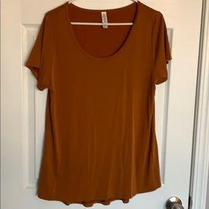 Burnt orange lularoe XL top